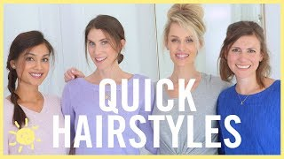 Download STYLE & BEAUTY | 4 Quick Hairstyles for Mom! Video