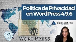 Download Política de Privacidad y Actualización de WordPress 4.9.6 Video