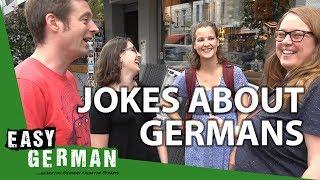 Download How Germans react to jokes about Germans   Easy German 203 Video