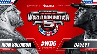 Download KOTD - Rap Battle - Iron Solomon vs Daylyt | #WD5 Video