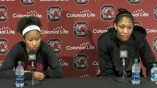 Download POST-GAME: Tyasha Harris, A'ja Wilson on College of Charleston — 12/5/17 Video