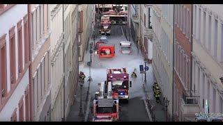Download [GABC] CO²-Austritt, Straßen in Nebel gehüllt - Gefahrgut-Einsatz der Feuerwehr - Mainz - 22.12.2015 Video