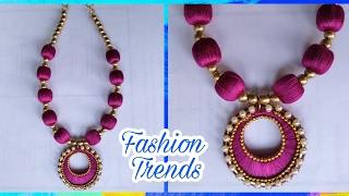 Download DIY Silk Thread Necklace | Bridal Silk Thread Jewelry Video
