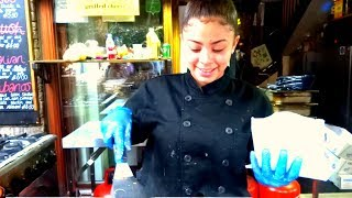 Download Street Food in London, Grilled Cheese Sandwiches in Borough Market London Video