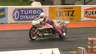 Download [ORIGINAL HQ] Eric Teboul - Rocket Bike 5.232 seconds (WORLD RECORD!) Santa Pod 2010 FIA Main Event Video
