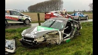 Download BIG CRASH onboard Jochen Claerhout Porsche 997 GT3 TAC Rally 2015 Video