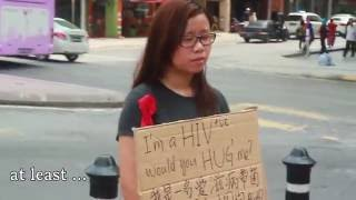 Download I'm HIV positive, would you hug me?   Malaysia Social Experiment Video