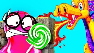 Download Pink SLIME VS the Red Dragon: Epic Battle Video