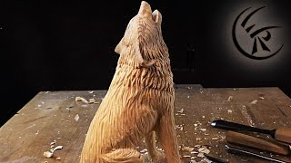 Download Woodcarving ″Howling Wolf″ ►► Timelapse Video