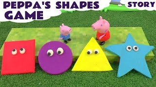 Download Peppa Pig Game of Shapes toy story with Play Doh Surprises Video