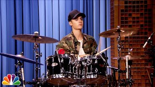 Download Justin Bieber and Questlove Drum-Off Video