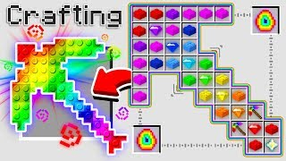 Download HOW TO CRAFT A $1,000,000 RAINBOW LEGO PICKAXE! *OVERPOWERED* (Minecraft 1.13 Crafting Recipe) Video