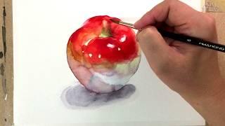 Download Watercolor Painting Tutorial - Apple / 사과 그리기 수채화 Video