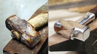 Download Turning old rusty hammer into Mjolnir TOOL RESTORATION Video