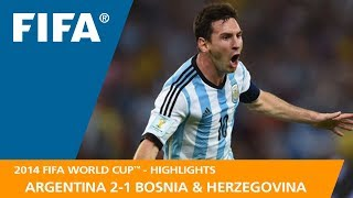 Download ARGENTINA v BOSNIA AND HERZEGOVINA (2:1) - 2014 FIFA World Cup™ Video