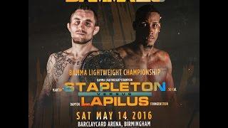 Download Martin Stapleton Vs. Damien Lapilus - BAMMA 25 (BAMMA Lightweight Title) Video