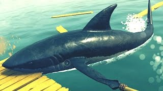 Download SHARK ATTACKIN' ME RAFT!!! - Raft Video