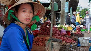 Download Vietnam || Vung Liem Rural Market || Vinh Long Province Video