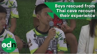 Download Boys rescued from Thai cave recount their experience Video