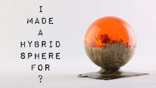Download #40 Hybrid Sphere 🌗 Burl & Resin ″Red Dawn″ Video