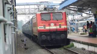 Download 16650 Parasuram Express Crossing 01079 Kochuveli Special : Indian Railways Video