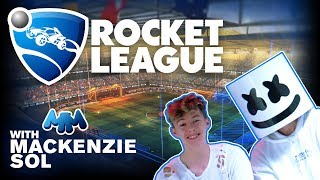 Download Rocket League Let's Play Challenge Ft. Mackenzie Sol | Gaming with Marshmello Video