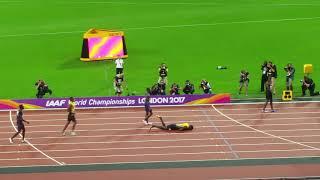 Download Mens x4 100m relay final. Bolt fall in full. Team GB&NI celebrations. London world championship 2017 Video