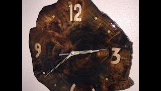 Download Making a clock out of an old stump in the yard Video