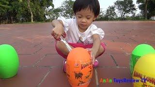 Download Bóc trứng khủng long - Săn trứng khủng long - Dinosaur surprise eggs ❤ AnAn ToysReview TV ❤ Video