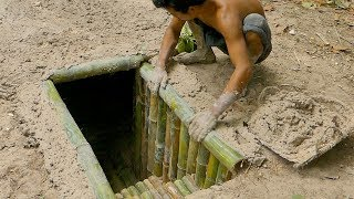 Download Building The Most Secret Underground Bamboo House By Ancient Skill Video