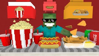 Download Monster School: WORK AT CINEMA PLACE! - Minecraft Animation Video