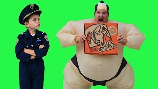 Download Sumo Pizza Delivery + Real Life Kid Cops Jail Video Funny YouTube Kids Video