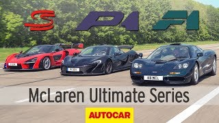 Download McLaren F1 vs. P1 vs. Senna: Ultimate Series review | Autocar Heroes Video