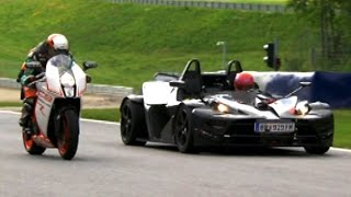 Download Bike VS Car Compilation - Fifth Gear Video