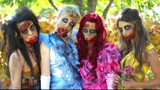 Download How To Make Zombie Disney Princess Makeup and Costumes! Video