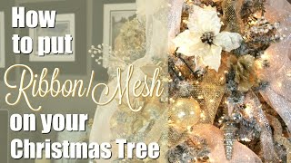 Download How To Put Ribbon/Mesh on Your Christmas Tree Video