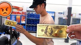 Download USING FAKE GOLD MONEY AT WALMART PRANK (ILLEGAL) Video