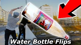 Download Top 5 LUCKIEST Youtuber Water Bottle Flip Trickshots (Flips) Tanner Braungardt Video