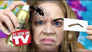 Download SPRAY PAINT EYEBROWS! - DOES THIS THING REALLY WORK? Video