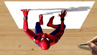 Download 3D Colored Pencil Drawing of Spiderman: Homecoming - Speed Draw | Jasmina Susak Video