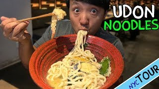 Download BEST Udon Noodles in New York! MASSIVE Bowl of Udon Noodle Soup! Video