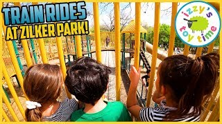 Download TRAIN RIDES and PLAYGROUNDS! Izzy's Toy Time Visits Zilker Park! Video