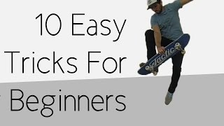 Download 10 Easy Beginner Skateboard Tricks Video