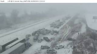 Download Deadly 70-car pileup in Iowa caught on camera Video
