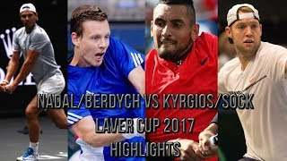 Download Nadal/Berdych Vs Kyrgios/Sock - Laver Cup 2017 (Highlights HD) Video
