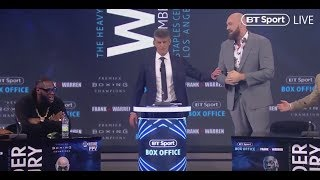 Download BEEF! - DEONTAY WILDER v TYSON FURY - *FULL & UNCUT* LONDON PRESS CONFERENCE (VERY STRONG LANGUAGE) Video
