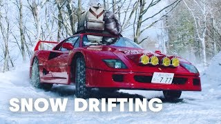Download Drifting a Ferrari F40 in Snow Up To Base Camp (4k!) Video