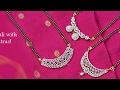 Download Latest Diamond Mangalsutra Designs With Weight!!! Video