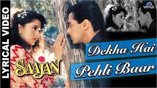 Download Dekha Hai Pehli Baar Full Song With LYRICS | Saajan | Salman Khan, Madhuri Dixit | Video