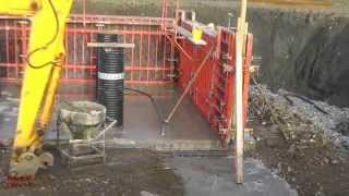 Download Building a Cow Shed. (5) - The Slurry-Store Supports. Video